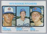 1973 Rookie Pitchers (Jimmy Freeman, Charlie Hough, Hank Webb) [Poorto&nb…
