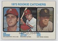 1973 Rookie Catchers (Bob Boone, Skip Jutze, Mike Ivie) [GoodtoVG&#…