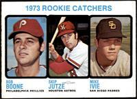 High # - 1973 Rookie Catchers (Bob Boone, Skip Jutze, Mike Ivie) [EXMT+]