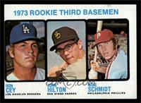 1973 Rookie Third Basemen (Ron Cey, John Hilton, Mike Schmidt) [VG]