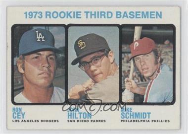 1973 Topps - [Base] #615 - 1973 Rookie Third Basemen (Ron Cey, John Hilton, Mike Schmidt)