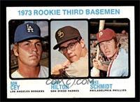 High # - 1973 Rookie Third Basemen (Ron Cey, John Hilton, Mike Schmidt) [EX&nbs…