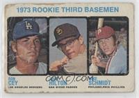 High # - 1973 Rookie Third Basemen (Ron Cey, John Hilton, Mike Schmidt) [Poor&n…