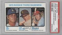 High # - 1973 Rookie Third Basemen (Ron Cey, John Hilton, Mike Schmidt) [PSA&nb…