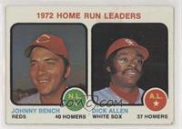 1972 Home Run Leaders (Johnny Bench, Dick Allen) [Poor]