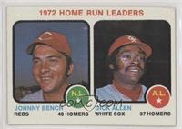1972 Home Run Leaders (Johnny Bench, Dick Allen) [GoodtoVG‑EX]