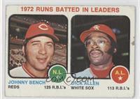 1972 Runs Batted In Leaders (Johnny Bench, Dick Allen) [Poor]