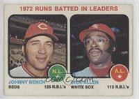 1972 Runs Batted In Leaders (Johnny Bench, Dick Allen) [PoortoFair]