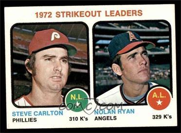 1973 Topps - [Base] #67 - Steve Carlton, Nolan Ryan [NM]