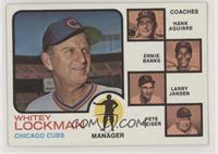 Chicago Cubs Coaches (Whitey Lockman, Hank Aguirre, Ernie Banks, Larry Jansen, …