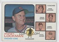 Chicago Cubs Coaches (Whitey Lockman, Hank Aguirre, Ernie Banks, Larry Jansen, …