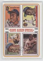 Hank Aaron Special (1954,1955,1956,1957) (1956 Card has Willie Mays in the Smal…
