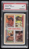 Hank Aaron Special (1954,1955,1956,1957) [PSA7NM]