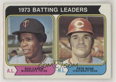 1974 Topps - [Base] #201 - 1973 Batting Leaders (Rod Carew, Pete Rose) [PoortoFair]