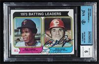 1973 Batting Leaders (Rod Carew, Pete Rose) [JSACertifiedEncased&nb…