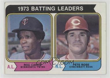 1974 Topps - [Base] #201 - 1973 Batting Leaders (Rod Carew, Pete Rose) [GoodtoVG‑EX]