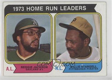 1974 Topps - [Base] #202 - 1973 Home Run Leaders (Reggie Jackson, Willie Stargell)
