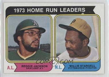 1974 Topps - [Base] #202 - 1973 Home Run Leaders (Reggie Jackson, Willie Stargell)