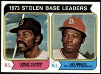 1973 Stolen Base Leaders (Tommy Harper, Lou Brock) [NMMT]