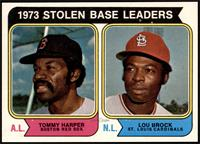 1973 Stolen Base Leaders (Tommy Harper, Lou Brock) [NM MT]