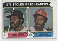 1973 Stolen Base Leaders (Tommy Harper, Lou Brock)