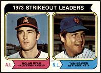 1973 Strikeout Leaders (Nolan Ryan, Tom Seaver) [NM+]