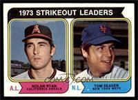 1973 Strikeout Leaders (Nolan Ryan, Tom Seaver) [EX]