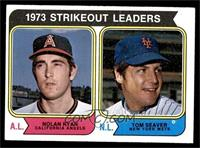 1973 Strikeout Leaders (Nolan Ryan, Tom Seaver) [EX]