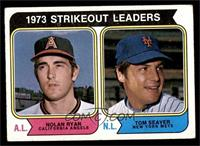 1973 Strikeout Leaders (Nolan Ryan, Tom Seaver) [VG EX]