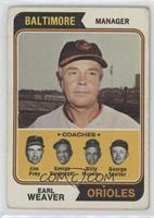 Orioles Coaches (Earl Weaver, Jim Frey, George Bamberger, Billy Hunter, George …