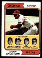 Reds Coaches (Sparky Anderson, Larry Shepard, George Scherger, Alex Grammas, Te…