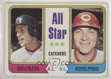 1974 Topps - [Base] #331 - All Star Catchers (Carlton Fisk, Johnny Bench) [GoodtoVG‑EX]
