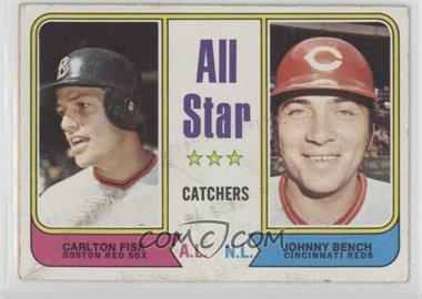 1974 Topps - [Base] #331 - All Star Catchers (Carlton Fisk, Johnny Bench) [Poor to Fair]