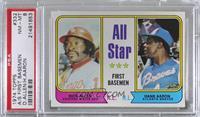 All Star First Basemen (Dick Allen, Hank Aaron) [PSA8NM‑MT]