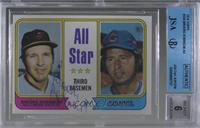 All Star Third Basemen (Brooks Robinson, Ron Santo) [JSA Certified En…