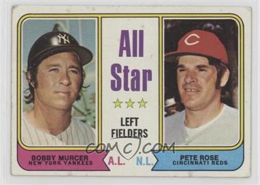 1974 Topps - [Base] #336 - All Star Left Fielders (Bobby Murcer, Pete Rose) [PoortoFair]