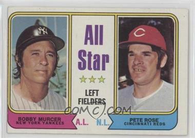 1974 Topps - [Base] #336 - All Star Left Fielders (Bobby Murcer, Pete Rose) [GoodtoVG‑EX]