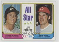 All Star Left Fielders (Bobby Murcer, Pete Rose)
