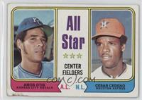 All Star Center Fielders (Amos Otis, Cesar Cedeno) [Poor to Fair]