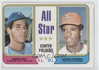 All Star Center Fielders (Amos Otis, Cesar Cedeno)