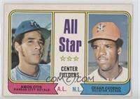 All Star Center Fielders (Amos Otis, Cesar Cedeno) [Good to VG‑…