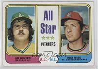 All Star Pitchers (Jim Hunter, Rick Wise)