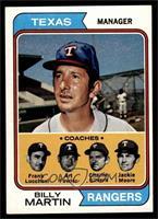 Rangers Coaches (Billy Martin, Frank Lucchesi, Art Fowler, Charlie Silvera, Jac…