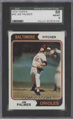 1974 Topps - [Base] #40 - Jim Palmer [SGC88]