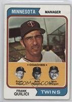Twins Coaches (Frank Quilici, Ralph Rowe, Vern Morgan, Buck Rodgers) [Good…