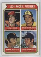 1974 Rookie Pitchers (Ron Diorio, Dave Freisleben, Frank Riccelli, Greg Shanaha…