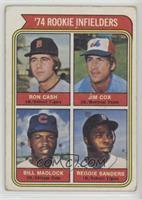'74 Rookie Infielders (Ron Cash, Jim Cox, Bill Madlock, Reggie Sanders) [Good&n…
