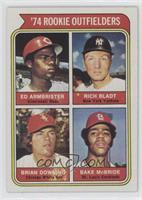 '74 Rookie Outfielders (Ed Armbrister, Rich Bladt, Brian Downing, Bake McBride)