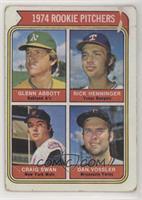 1974 Rookie Pitchers (Glenn Abbott, Rick Henninger, Craig Swan, Dan Vossler) [P…