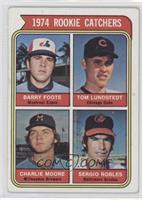 1974 Rookie Catchers (Barry Foote, Tom Lundstedt, Charlie Moore, Sergio Robles)…
